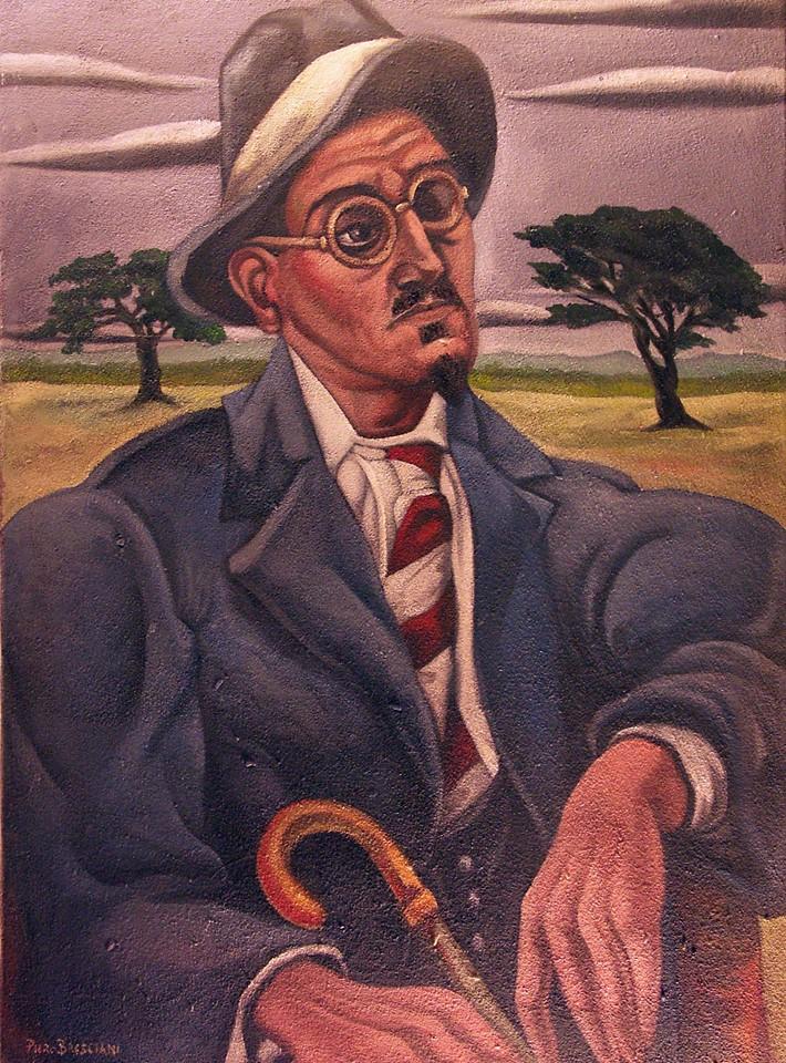 """"""" Ritratto di James Joyce """" Piero Bresciani"""